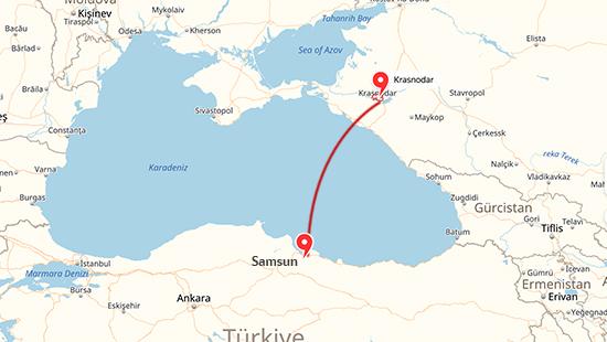 samsun krasnodar map ile ilgili görsel sonucu
